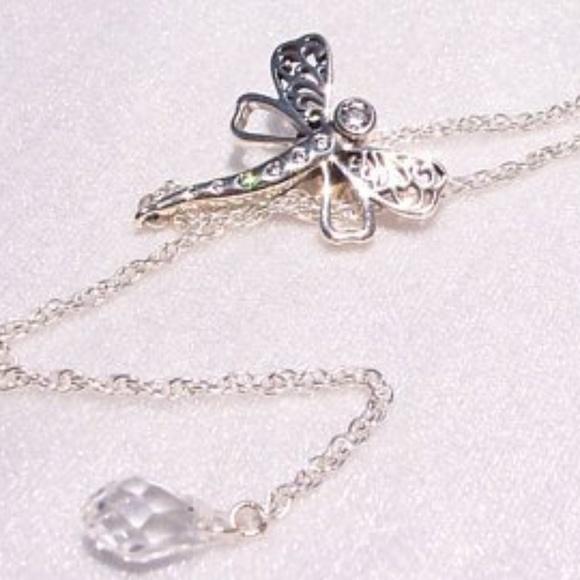 5013af5922e0b Pandora Dreamy Dragonfly Necklace Sterling CZ